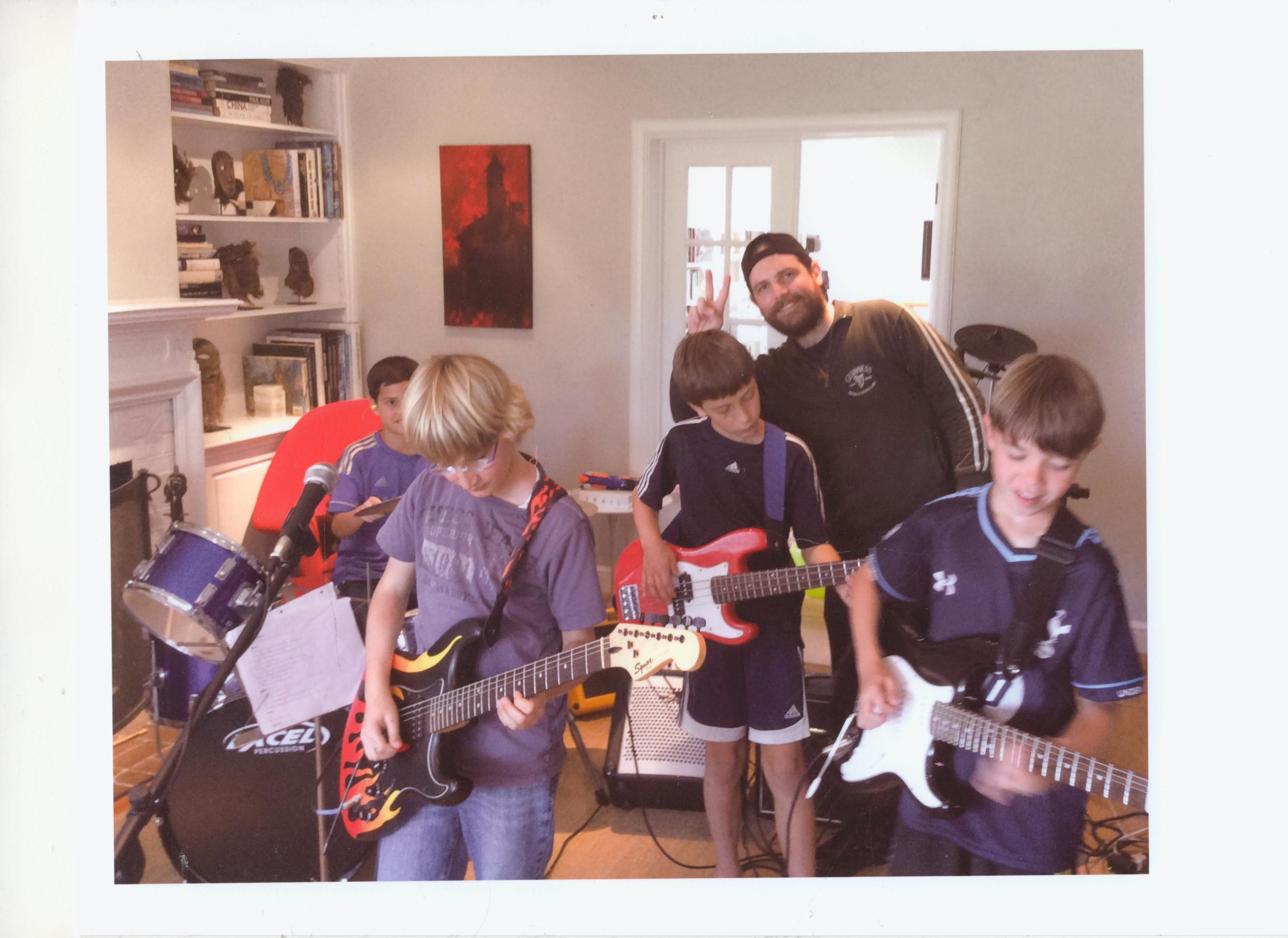 Kids Rock Band Class Photo